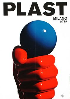 Armando Testa, rubber and plastic exhibition poster, 1972. In his posters and advertisements, the image is the primary means of communication, and he reduces the verbal content to a few words or even just the product name.