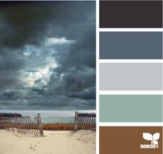 stormy tones ~ I would actually pattern an accent wall after this cloud pattern...that'd be cool.