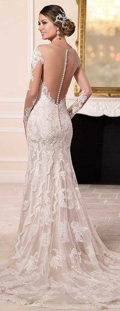 Be gorgeous with this backless Off-the-shoulder Appliques Wedding Dress. See at http://www.cutedresses.co/product/off-shoulder-appliques-wedding-dress/