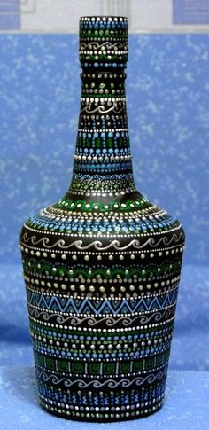 Gorgeous bottle hand-painted