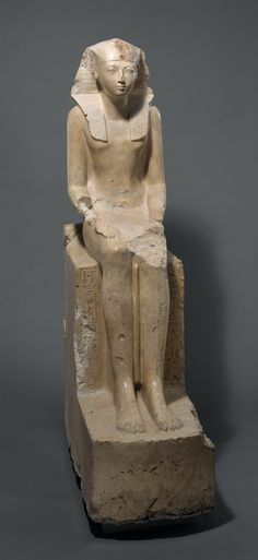 Seated Statue of Hatshepsut, one of the best known female rulers of Egypt dated ca. 1479–1458 B.C.