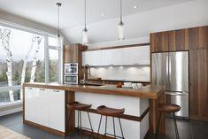 040 - Simard Cuisine et Salle de bains Kitchen Interior, Kitchen Decor, Kitchen Layout Plans, New Kitchen Designs, Home Reno, Log Homes, Home Kitchens, Kitchen Remodel, House Plans