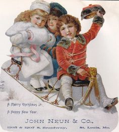 Vintage Christmas Advertising Trade Cards