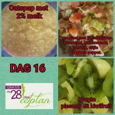 dag 16 28 Dae Dieet, Dieet Plan, Diet Recipes, Healthy Recipes, Dash Diet, Day Plan, Stuffed Green Peppers, Healthy Options, Eating Plans