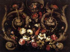 Gabriel de la Corte - Grotesques with Flowers