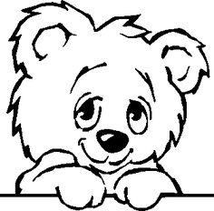 clip art black and white | cute bear - public domain clip art image @ wpclipart.com