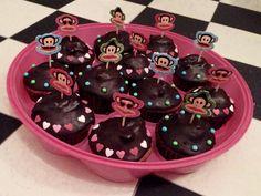 Paul Frank Chocolate Muffins Julius Dark Chocolate tiny hearts