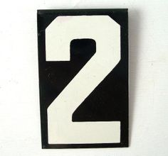 vintage mid century modern number 2 two black by RecycleBuyVintage, $5.00