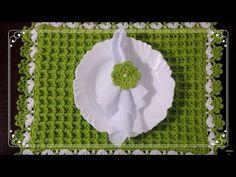 LUGAR AMERICANO EM CROCHÊ   Floral   por Elizabeth Atelier - YouTube