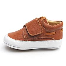 LiLi shoes for baby boys, boat shoes brown