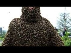 "Chinese man covered with 460,000 bees for honey stunt. A Chinese beekeeper covered his semi-naked body in more than 460,000 bees for a publicity stunt aimed at selling more of his honey, using a technique known as ""bee bearding"". She Ping, a 34-year-old honey merchant from the southwestern Chinese metropolis of Chongqing, covered himself in bees that collectively weighed more than 45 kilograms (100 pounds) in a display for a group of French photographers on Wednesday, he said."