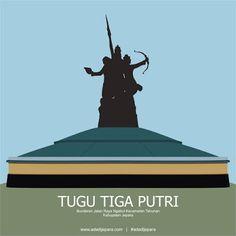 Vector Tugu Tiga Putri Kabupaten Jepara
