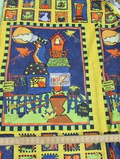 100% Cotton Quilt Fabric / Halloween Delight By For Wilmington Prints / Sold By The Panel