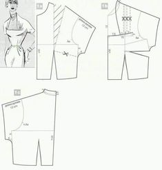 Corset Pattern, Top Pattern, Blouse Patterns, Clothing Patterns, Pattern Drafting Tutorials, Sewing Collars, Evening Dress Patterns, Barbie Sewing Patterns, Fashion Sewing