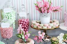 Candy + Macarons + Florals from a Teddy Bear Forever Friends Birthday Party via Kara's Party Ideas KarasPartyIdeas.com (18)