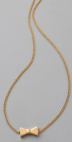 Marc By Marc Jacobs Mini Charm Tiny Bow Pendant Necklace in Gold - Lyst