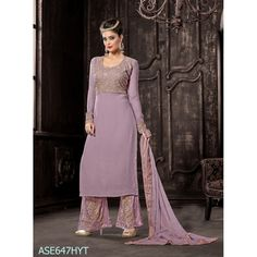 Designer  purple Georgette Party Wear Palazoo Style Salwaar Suit-ASE647HYT ( ARTI-522 )Karishma