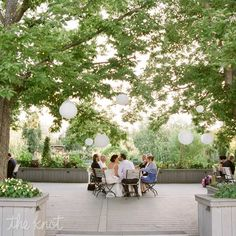 Denver Botanic Gardens Wedding Reception