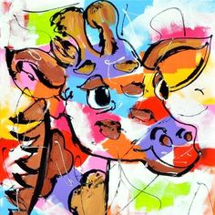 DIY Diamond Painting - Colorful Pictures 1 Drawing Cartoon Characters, Character Drawing, Cartoon Drawings, Farm Cartoon, Cross Paintings, Art Moderne, Pictures To Paint, Painting Patterns, Colorful Pictures