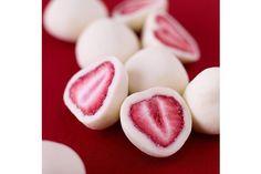 Frozen Yogurt Covered Strawberries.  Just dip strawberries in yogurt and freeze.  Great healthy snack.