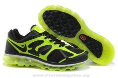 buy online c897c 8ac1d 487982-001 Black Green Nike Air Max 2012 Mens 2014 Free Shoes Cheap Nike Air