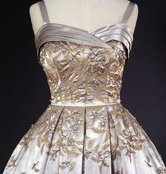Detail of Hardy Amies gown