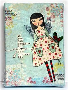 #MixedMedia #Art on Canvas- lovely girl!