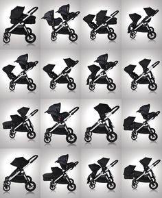 city select double multiple configuration diagram. Cadillac of strollers