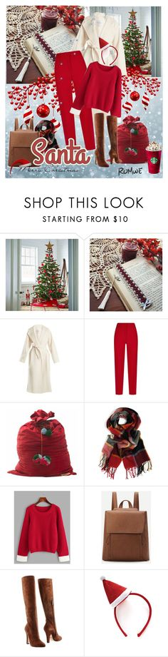 """""""Santa is here"""" by white-moonlight ❤ liked on Polyvore featuring Martha Stewart, MaxMara, ESCADA and Dolce&Gabbana"""