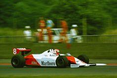 Niki Lauda - Mclaren MP4C during practice for the 1983 British Grand Prix, Silverstone