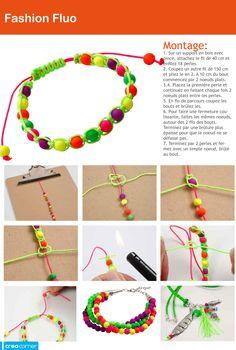 Création de bracelets fluos