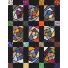 Crazy Stained Glass Quilt Pattern