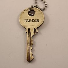 TARDIS KEY Doctor Who Whovian necklace by completelywiredjewel