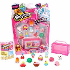 Expand your Season 4 collection with this Shopkins set and display case. Shopkins Game, Shopkins Season 4, Shopkins Girls, Toys For Girls, Kids Toys, Hello Kitty Party Supplies, Play Grocery Store, Shopkins And Shoppies, Minions