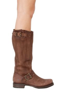 Veronica Slouch Boot in Dark Brown by FRYE