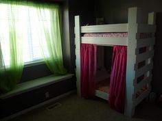 The Toddler Bunk Bed - What a cute idea - transforms into two separate beds or a bunk bed over a crib - awesome! Toddler Bunk Beds, Kid Beds, Furniture Fix, Furniture Projects, Diy Projects, Small Nurseries, Transforming Furniture, Kids Bedroom, Kids Rooms
