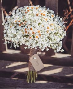 daisy and baby's breath bouquet Bouquet Champetre, Deco Champetre, Deco Floral, Bride Bouquets, Bridesmaid Bouquets, Bridesmaids, Bridesmaid Hair, Rustic Elegance, Floral Arrangements
