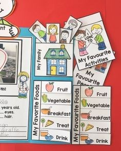 All About Me Lapbook Back to School by Kindergarten Matters All About Me Project, All About Me Crafts, All About Me Preschool, Phonics Activities, Kindergarten Activities, Writing Activities, Toddler Activities, Preschool Open Houses, Preschool Themes