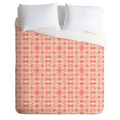 Lisa Argyropoulos Electric in Peach Duvet Cover   DENY Designs Home Accessories