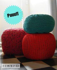 Pouf Se realizan en distintos tamaños y por encargue! El tejido es desmontable para ser lavado como asi su forro interno posee un cierre para ser rellenado.