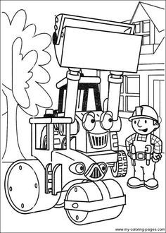 coloring page Bob the Builder on Kids-n-Fun. Coloring pages of Bob the Builder on Kids-n-Fun. More than coloring pages. At Kids-n-Fun you will always find the nicest coloring pages first! Tractor Coloring Pages, Coloring Pages For Boys, Online Coloring Pages, Cartoon Coloring Pages, Free Printable Coloring Pages, Colouring Pages, Coloring Books, Kids Colouring, Kids Cartoon Characters