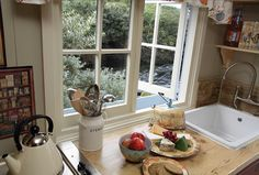 the Scotish Cottage Kitchen - the stream is true exterior the kitchen window! Defining a Fashion Collection: What Is Cottage Fashion Decor? Cosy Living, Cottage Living, Cottage Kitchens, Cottage Homes, Scottish Decor, Scottish Cottages, Tiny House Swoon, Cottage Interiors, Small Apartments
