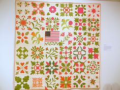 Album Quilt, dated 1864 by Mary Nevins Potter and others, Pottersville, NJ---collection Newark Museum.