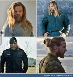 This norwegian navy officer looks like the norse god thor