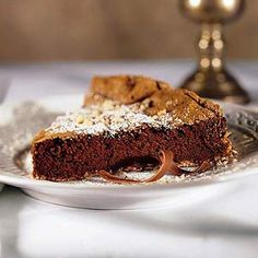 Chocolate Brazil Nut Torte This flourless torte is filled with dark chocolate, nuts, and espresso powder. It's a rich dessert that's Christmas party perfect.