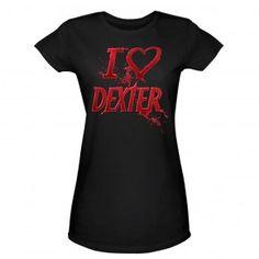 IHeart Dexter Women Tee - Slim fit. $24.95 http://dextermorganstore.com/dexter-heart-women-tee-slim-fit/  #dexter #tee #tshirt