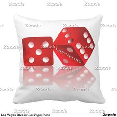 #LasVegasicons - Add Background color to this Las Vegas Dice Throw Pillow #Gravityx9
