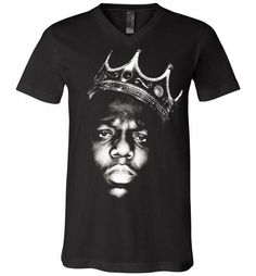 Notorious BIG Biggie Smalls Big Poppa Frank White Christopher Wallace,Bad Boy Records, Hip Hop New York Brooklyn,v1,Canvas Unisex V-Neck T-Shirt