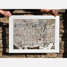 Toronto Mapcut 30x22 now featured on Fab.