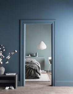 15 Cool Blue bedroom ideas - All Bedroom Design Blue Rooms, Blue Bedroom Colors, Blue Bedroom Walls, Grey Walls, Paint Colours For Bedrooms, Colours For Living Room, Calming Bedroom Colors, Navy Blue Bedrooms, Blue Bedroom Decor
